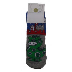 Αντιολισθητικές Κάλτσες Δράκος (Γκρι Ανοιχτό) (#304.062.000+15#)