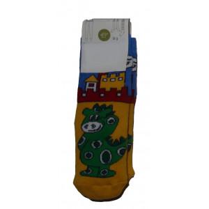 Αντιολισθητικές Κάλτσες Δράκος (Κίτρινο) (#304.062.000+5#)