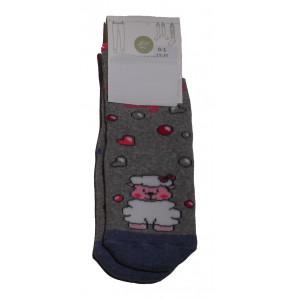 Αντιολισθητικές Κάλτσες Προβατάκι (Γκρι Ανοιχτό) (#304.064.002+15#)