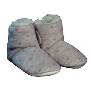 Παντοφλάκια με Γούνα Πουά (Ροζ) (#747.349.010+3#)
