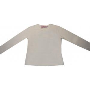 Μπλούζα Μονόχρωμη Βαμβακολύκρα (Άσπρο) (Κωδ.583.532.001)