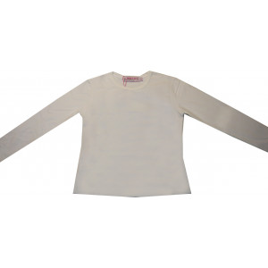 Μπλούζα Μονόχρωμη Φούτερ Λύκρα (Άσπρο) (Κωδ.583.532.002) (Άνω των 10τεμ 6€)