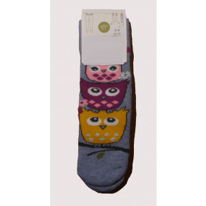 Αντιολισθητικές Κάλτσες Κουκουβάγια (Μωβ) (#304.064.004+17#)