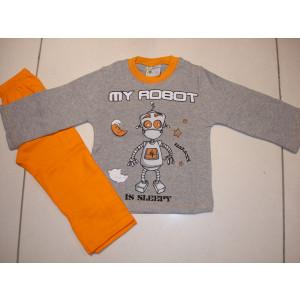 Πυζάμα Ρομπότ (Γκρι Ανοιχτό) (Κωδ.574.68.025)