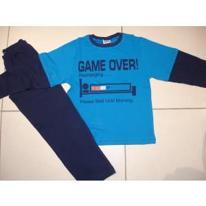 Πυζάμα Game Over (Μπλε Ρουα) (Κωδ.574.68.022)