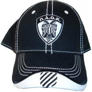 Καπέλο Jockey ΠΑΟΚ (Μαύρο) (Κωδ.161.125.086)