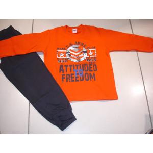 Φόρμα Φούτερ (Πορτοκαλί) (Κωδ.077.40.232)