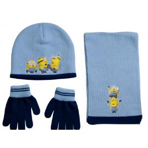 Σκουφάκι & Κασκόλ & Γάντια Minions Disney (Σιελ) (Κωδ.200.503.025)