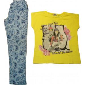 Μπλουζοφόρεμα & Κολάν (Κίτρινο) (Κωδ.291.87.172)