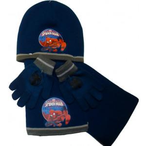 Σκουφάκι & Κασκόλ & Γάντια SpiderMan Disney (Μπλε) (Κωδ.200.503.016)