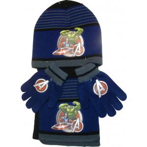 Σκουφάκι & Κασκόλ & Γάντια Avengers Disney (Μπλε) (Κωδ.200.503.016)