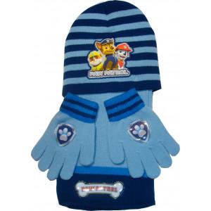 Σκουφάκι & Κασκόλ & Γάντια Paw Patrol Disney (Σιελ) (Κωδ.200.503.033)