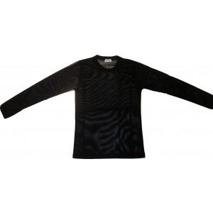 Μπλούζα Μ/Μ (Μουσελίνα) Διαφανές (Μαύρο) (Κωδ.311311) (Διάφορα)