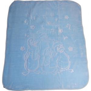Κουβέρτα 1.00 cm x 1.20 cm Ανάγλυφη (Διάφορα Σχέδια) (Σιελ) (Κωδ.582.515.001)