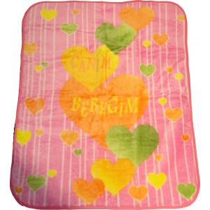 Κουβέρτα 1.05 cm x 1.25cm Εμπριμέ (Διάφορα Σχέδια) (Ροζ) (Κωδ.582.515.008)