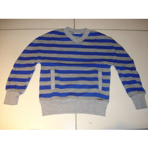 Μπλούζα Ριγέ Πλεκτή (Μπλε Ρουα) (Λεπτή Πλέξη) (Κωδ.291.18.159)