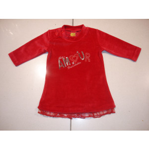 Φόρεμα Βελουτέ (Κόκκινο) (Κωδ.077.130.035)