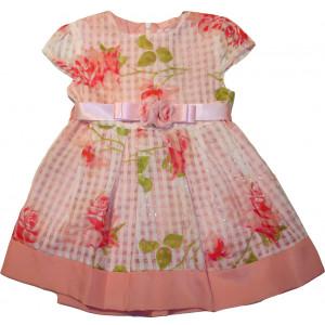 Φόρεμα X/Μ (Εμπριμέ) (Σομόν) (Κωδ.291.87.507)