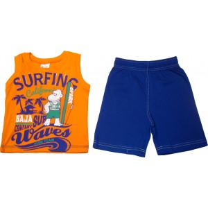Σετ Παιδικό Μπλούζα Αμάνικη Και Κοντό Παντελονάκι Πορτοκαλί 118.43.118