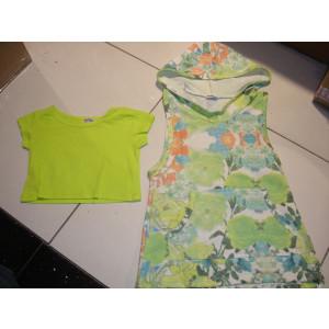 Φόρεμα Χ/Μ & Μπλούζα Μακώ (Λαχανί) (Κωδ.291.87.191)