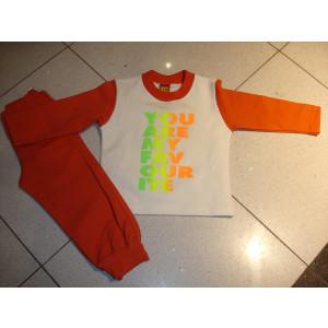 Φόρμα Φούτερ (Πορτοκαλί) (Κωδ.077.39.288)