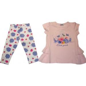 Μπλουζοφόρεμα & Κολάν (Ροζ) (Κωδ.291.87.573)