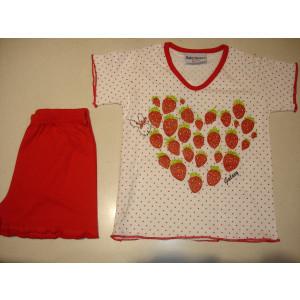 Πυζάμα K/Μ Παιδική (Κόκκινο) (Κωδ.574.94.017)