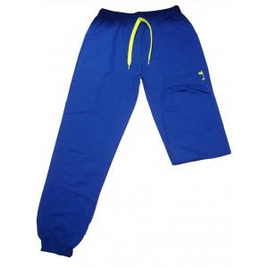 Παντελόνι Φόρμας Μακώ με Στάμπα & Λάστιχο (Μπλε Ρουά) (Κωδ.008.22.002) (Ανω των 10 τεμ. 6 €)