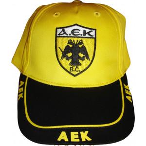 Καπέλο Jockey Α.Ε.Κ. (Κίτρινο) (Κωδ.214.512.008)