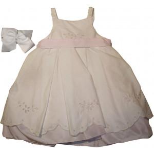 Ολοκληρωμένο Πακέτο Βάπτισηs με αυτό το Φόρεμα (Poupon) (Κωδ.183.112.008)