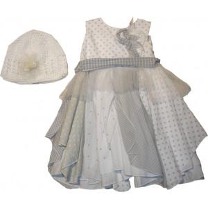 Ολοκληρωμένο Πακέτο Βάπτισηs με αυτό το Φόρεμα (Erofili) (Κωδ.276.112.006)