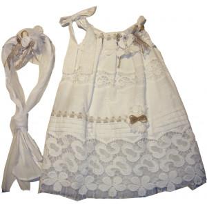 Ολοκληρωμένο Πακέτο Βάπτισηs με αυτό το Φόρεμα (Erofili) (Κωδ.276.112.015)
