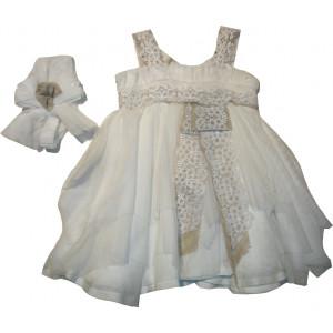 Ολοκληρωμένο Πακέτο Βάπτισηs με αυτό το Φόρεμα (Stova Bambini) (Κωδ.133.112.002)