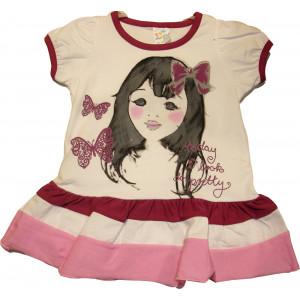 Φόρεμα Κ/Μ Παιδικό (Μελιτζανί) (Κωδ.582.130.015)
