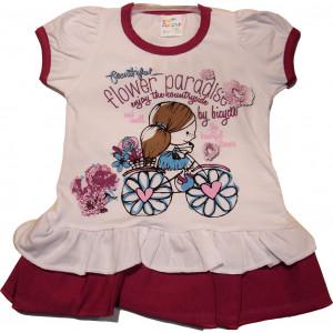 Φόρεμα Κ/Μ Παιδικό (Μελιτζανί) (Κωδ.582.130.013)