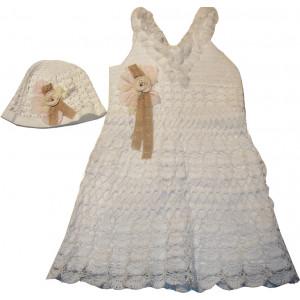 Ολοκληρωμένο Πακέτο Βάπτισηs με αυτό το Φόρεμα (Κωδ.807053)