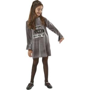 Φόρεμα Βελουτέ Παιδικό  Σκούρο Γκρι Εβίτα 198067.  291.086.065
