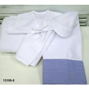 Λαδόπανο ριγέ  λευκό-μπλέ 13195-5 famous-baby