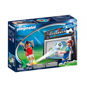 Playmobil Σετ Εξάσκησης Ποδοσφαίρου Με Πίνακα Σκορ 70245 Α