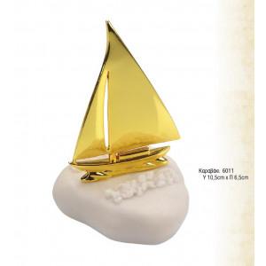 Μπομπονιέρα Καραβάκι Μεταλλικό (ANDRONIDIS.6011)
