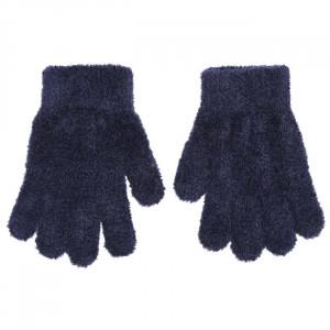 Γάντια Πλεκτά (Μπουκλέ) Μονόχρωμα (Μπλε) (Κωδ.200.90.021)