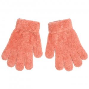 Γάντια Πλεκτά (Μπουκλέ) Μονόχρωμα (Πορτοκαλί Ανοιχτό) (Κωδ.200.90.021)