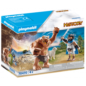 Playmobil Ο Οδυσσέας & Ο Κύκλωπας Πολύφημος 70470