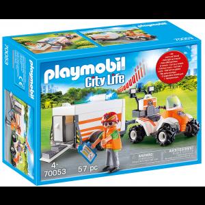 Playmobil Διασώστης Με Γουρούνα & Τρέιλερ (70053)