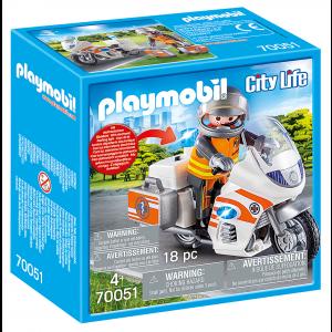 Playmobil Διασώστης Με Μοτοσικλέτα (70051)