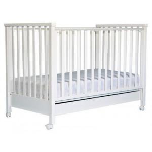 Κρεβάτι της Λίκνο Ιόλη λευκό με στρώμα grecostrom deluxe antibacterial