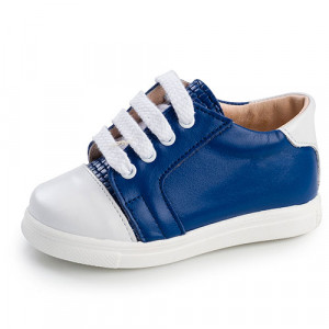 Παπουτσάκι Gorgino (Κωδ.G1006-2) Μπλε (+4€ στο Πακέτο Βάπτισης)