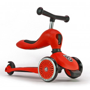 Scoot and Ride Ποδήλατο Ισορροπίας & Πατίνι 2 σε 1 HighWayKick 1,Red