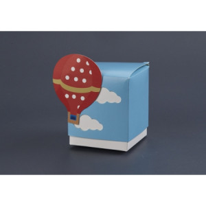 Μπομπονιέρες Βάπτισης Κουτάκι Αερόστατο HNV7908 Nuova Vita