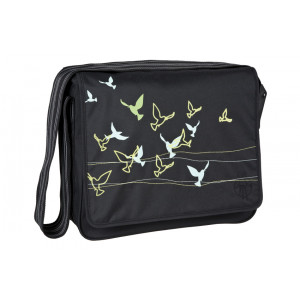 Lassig τσάντα αλλαγής Birds black (LMB1010172) Δωρεάν αποστολή με αντικαταβολή με courier